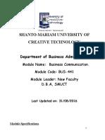 BUS-441 Business Communication