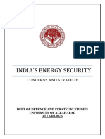Energy Sequrity India's Strategy and Challenges.
