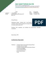 Surat Laporan Bulanan Trimester 4 2017