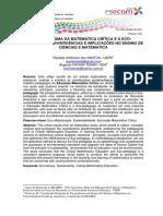2012_O Paradigma Da Matemática Crítica e a Eco-pedagogia