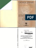 George STEINER - Extraterritorial - A Literatura e a Revolução Da Linguagem