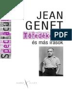 Jean Genet Töredékek