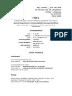 Curriculum Johnny Cueva Valdivia