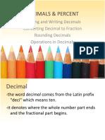 2 Decimals and Percent