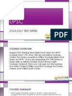 UPSC Zoology Test Series