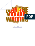 Manage Your Writing 3.0