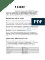 Resumen de Excel Lab de Informatica