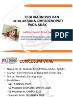 Dr. Dr. Nadirah Rasyid Ridha, Sp.a(k) Limfadenopati Anak