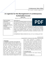 An agenda for the Management of contemporary Sustainable houses