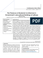 The Presence of Modernist Architecture in Government's educational Buildings at Lefkoşa