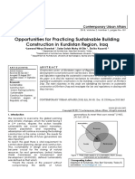 Opportunities for Practicing Sustainable Building Construction in Kurdistan Region, Iraq