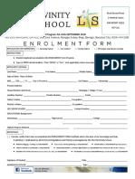 Divinity School 2018 New Enrollment Form