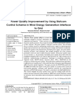 Power Quality Improvement by Using Statcom Control Scheme in Wind Energy Generation Interface to Grid