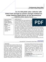 Exergy analysis of a flat plate solar collector with latent heat storage by phase change material for water heating applications at low temperature
