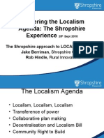 Shropshire's Approach to Localism in Planning - Jake Berriman - Shropshire Council