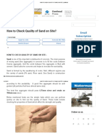 How to Check Quality of Sand on Site_ _ Civilread