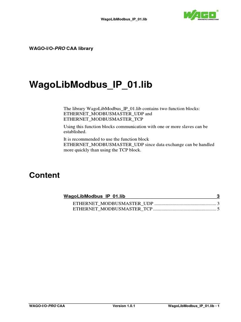 WagoLibModbus IP 01 En | Puntero (Programación de