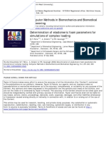 Determination of Elastomeric Foam Parameters for Simulations of Complex Loading