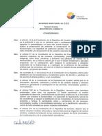 Acuerdo Ministerial No. 49 Mesa de Trabajo REDD