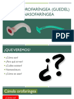 Cánula Orofaríngea (Guedel) y Nasofaríngea