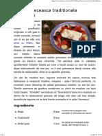 Salata Greceasca Originala - Horiatiki - LaLena.ro