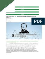 La Doctrina de La Predestinación de Luis de Molina