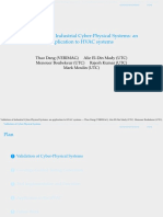 Validation of Industrial Cyber-Physical Systems
