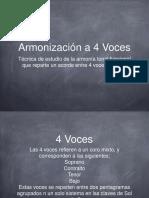 Armonizacion a 4 Voces