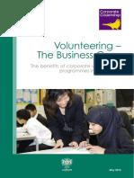 Volunteering the Business Case