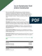 Cuanto Gana Un Constructor Civil Sueldo Ingeniero Constructor