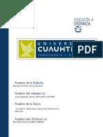 Sonia Montañez Gómez. Act. 1.1 Relaciones y Tareas de La Filosofía de La Educación.