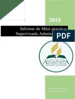 Informe Mini Practica 2018 Wendy