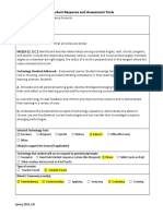 student response assessment lesson plan