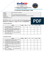 Career Guidance Monitoring Form
