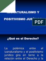 TEORIAS DERECHOS HUMANOS Ius Naturalismo y Positivismo Jurdico