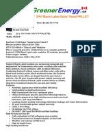 SunTech 175W 24V Black Label Solar Panel PALLET