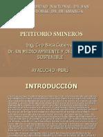Petitorio Minero Conseciones Mineras 2016