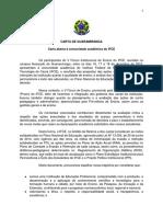 Carta de Guaramiranga_ Fórum Proen