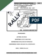 Actividades Rally de Conoc. y Hab. de Dep.