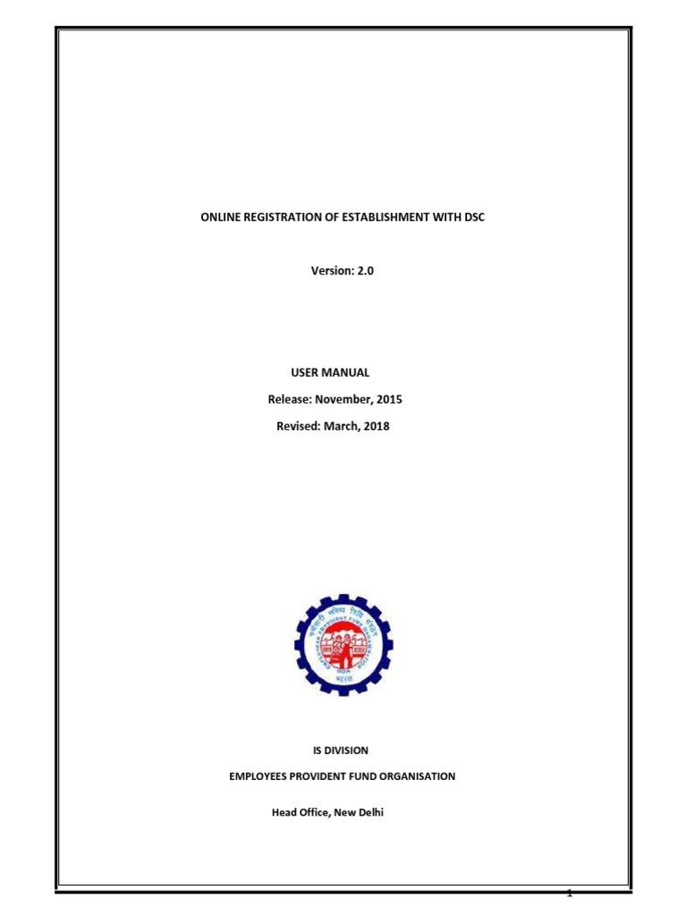 Employer Registration Manual | Public Key Certificate | Sole