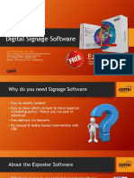 Digital Signage Software EZposter 2018