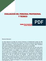 Unidad Nº 9 Evaluacion Del Personal Profesional