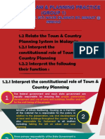 Relate the town & country planning system in M'sia