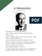 Biografia de Vicente Aleixandre