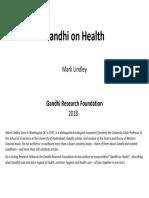 Gandhi on Health March 2018