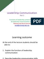 DUW123 Leadership Communication Part 2