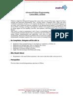 Agenda Python ADV Training