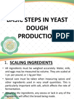 Basic Steps in Yeast Dough Production
