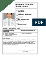 Kartu Pendaftaran SNMPTN 2018 4180383786