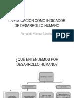 La Educación Como Indicador de Desarrollo Humano